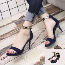 OL Ankle Strap Metal Heels
