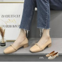 Stella Pu Leather Mid Heels