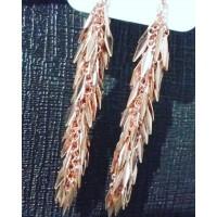 Elegant Long Gold Design Earrings