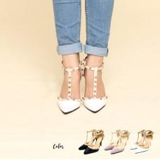 Calvin K T-Strap Mid Heels