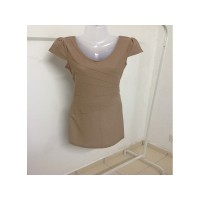 Round Neck Brown Dress