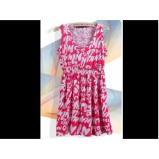 LETTERS VEST DRESS (ROSE)