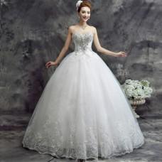 Korean Summer Tube Wedding Gown