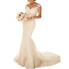 Mermaid Lace Long Bridal Gown