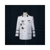 Sailor Style Embroidery Suit