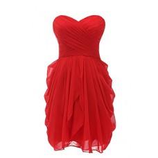 Short Strapless Evening Gown
