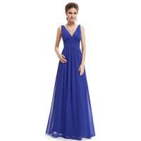 V Neck Sleeveless Wedding Dress