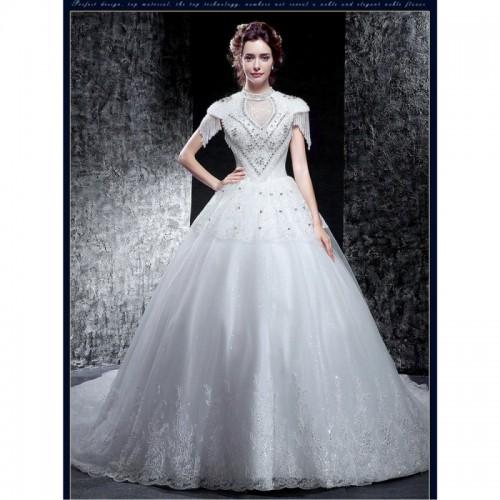 Stylish Short-Sleeve Wedding Dress   sncloset.com   Best Deals ...