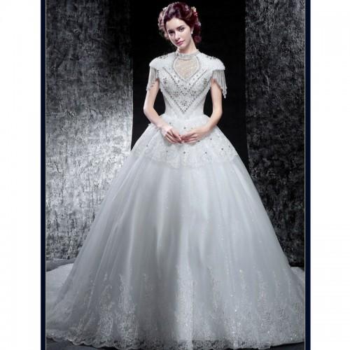 Stylish Short-Sleeve Wedding Dress | sncloset.com | Best Deals ...
