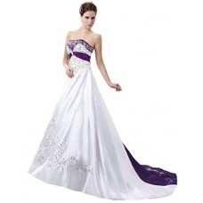 Charming Strapless Bridal Gown
